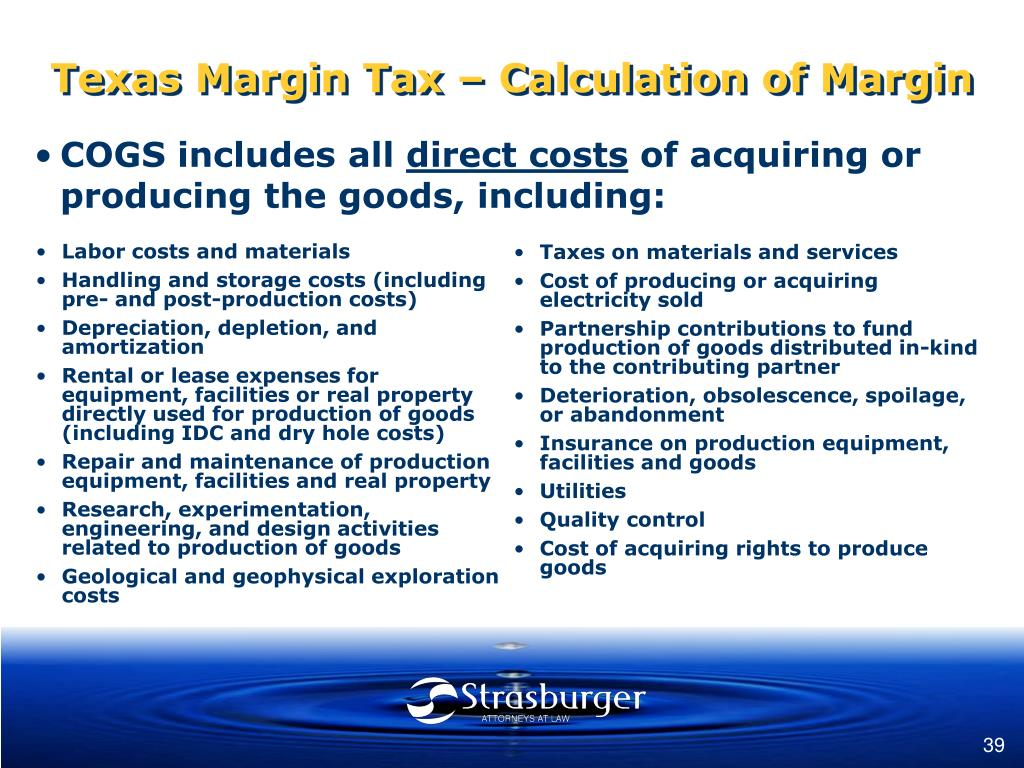 Labor costs and materials