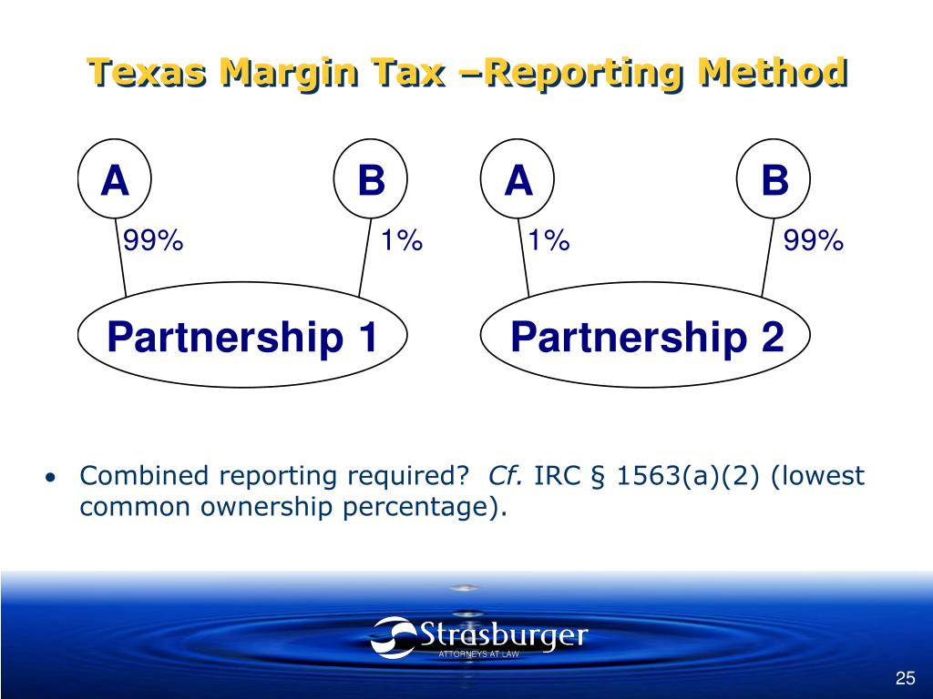 Texas Margin Tax –Reporting Method