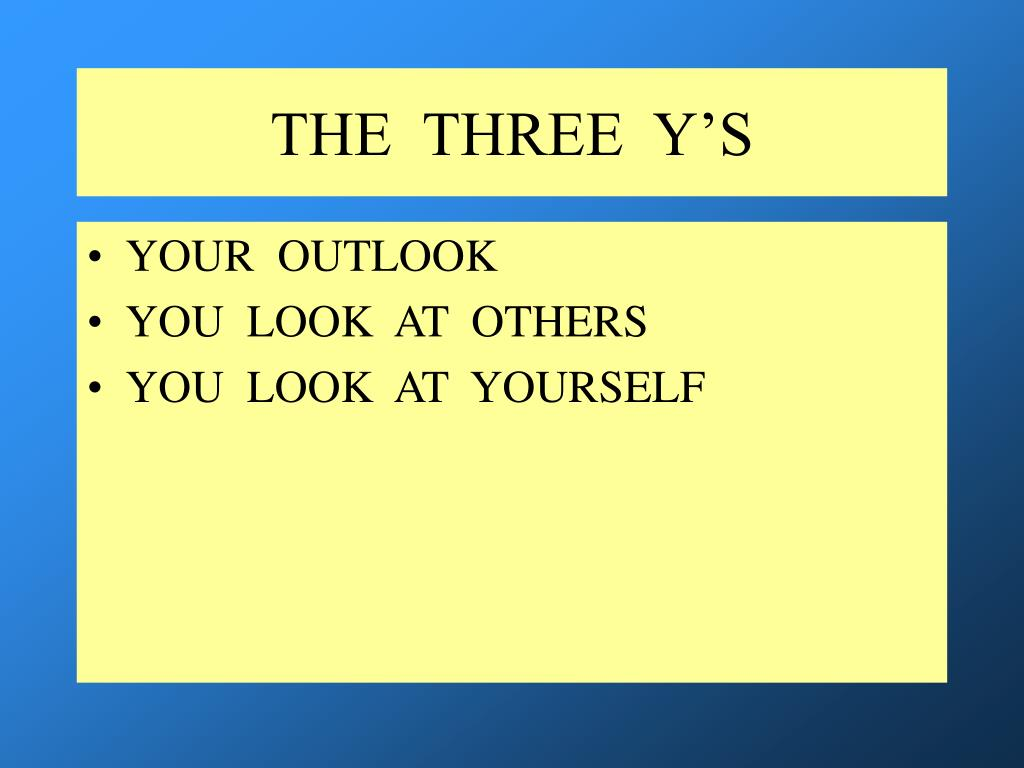 THE  THREE  Y'S