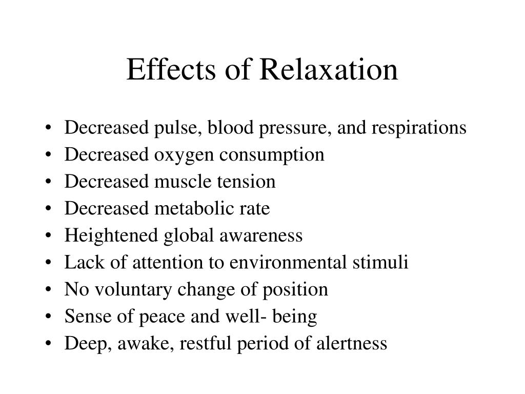 Effects of Relaxation