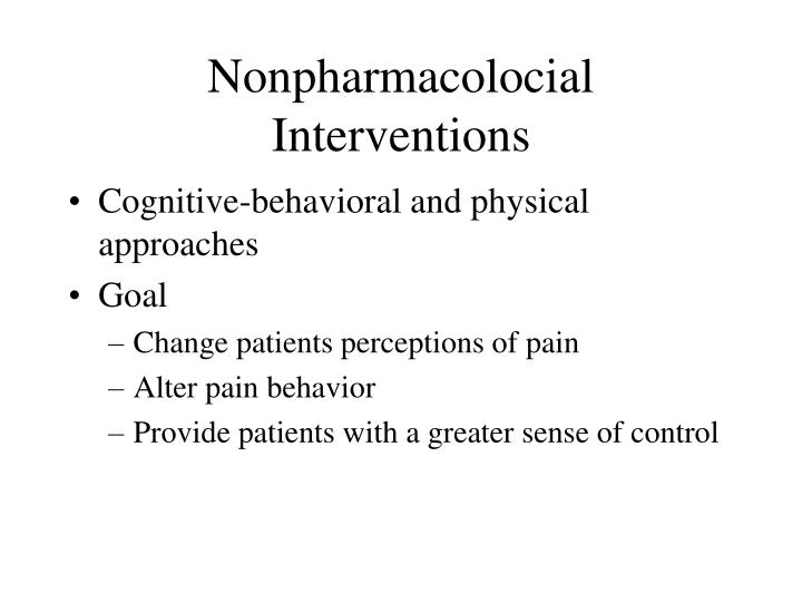 Nonpharmacolocial interventions
