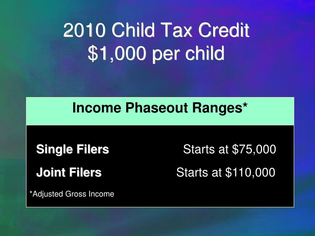 2010 Child Tax Credit