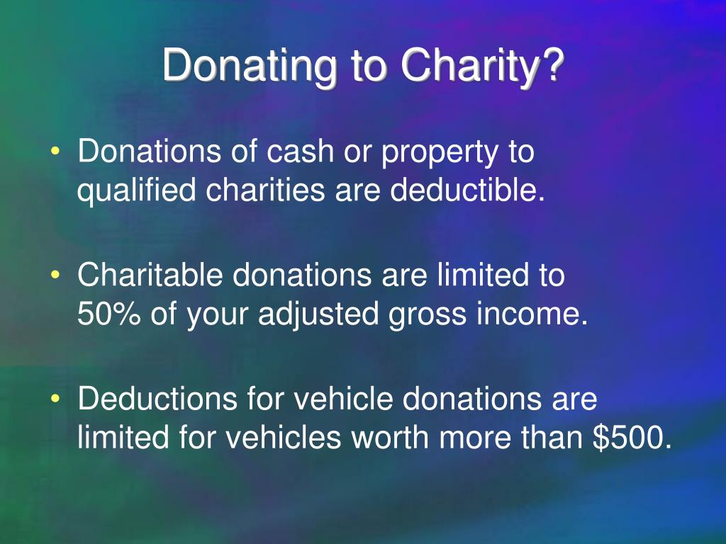 Donating to Charity?