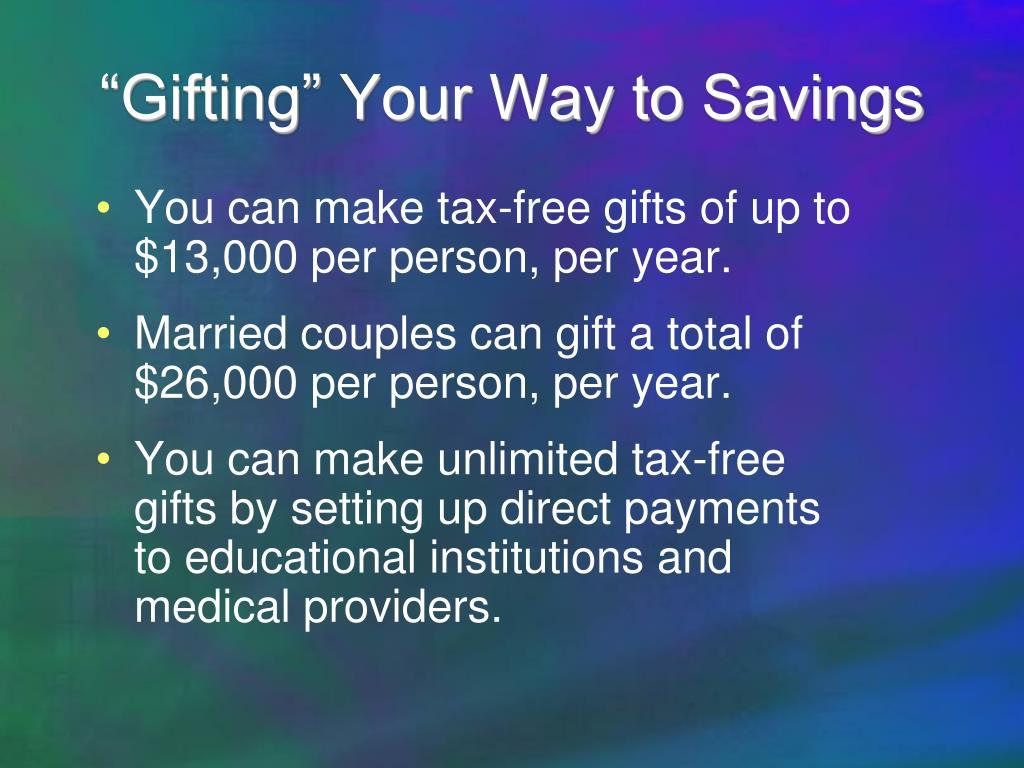 """""""Gifting"""" Your Way to Savings"""