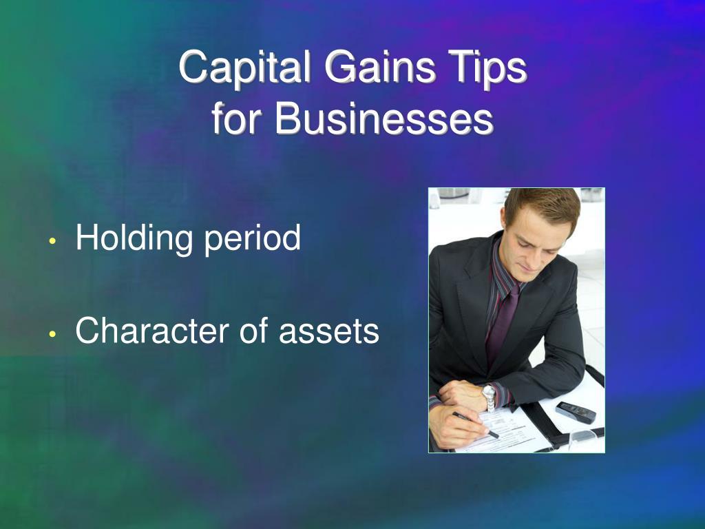 Capital Gains Tips