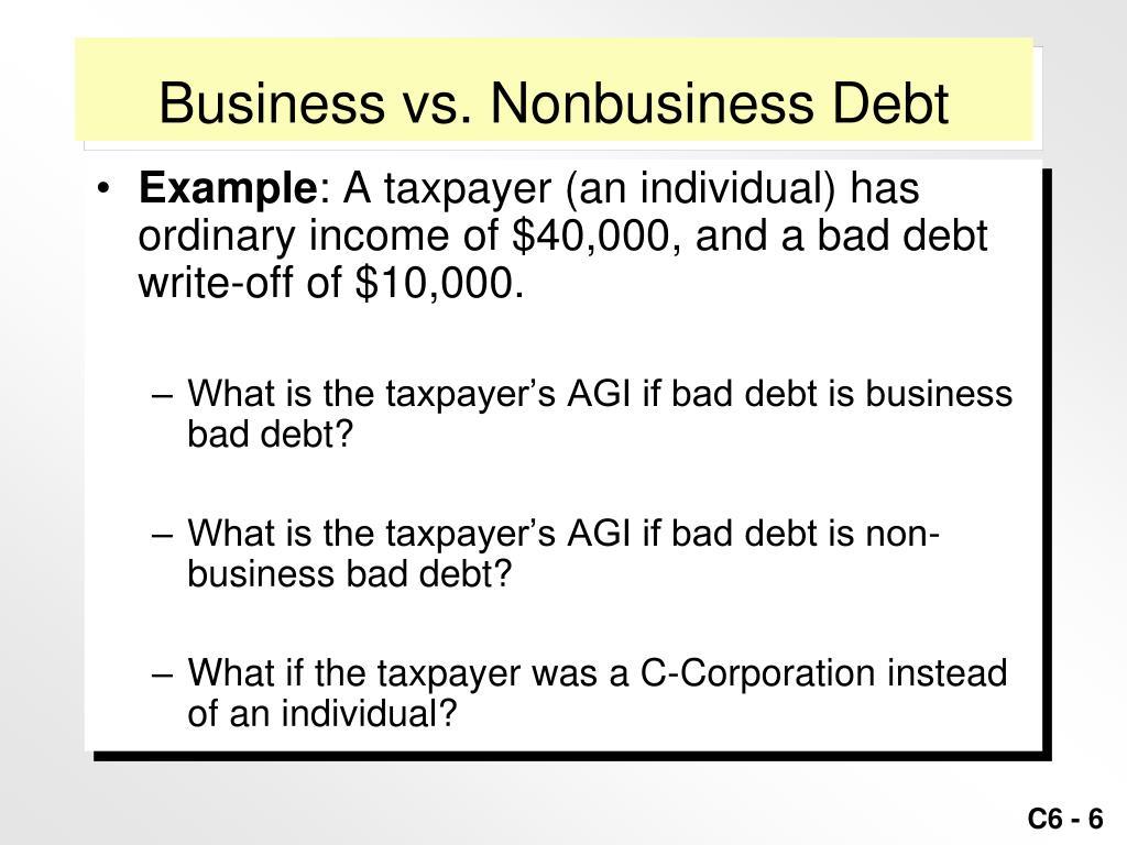 Business vs. Nonbusiness Debt