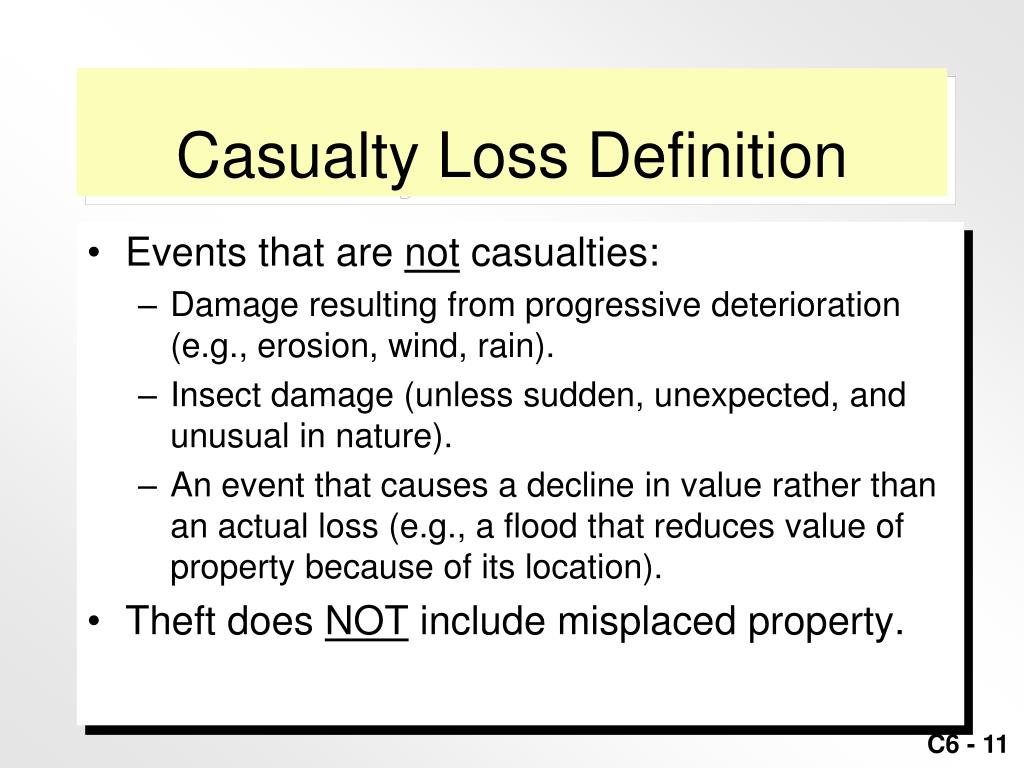 Casualty Loss Definition
