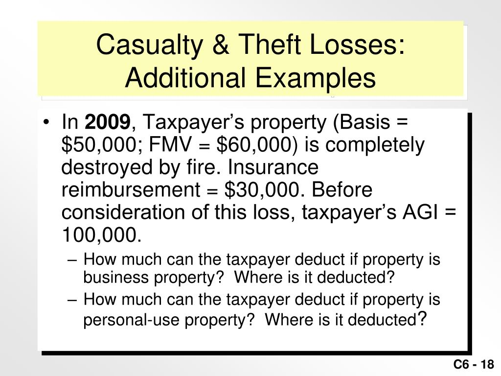 Casualty & Theft Losses: