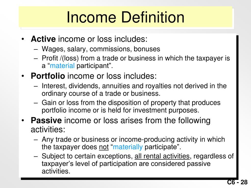 Income Definition