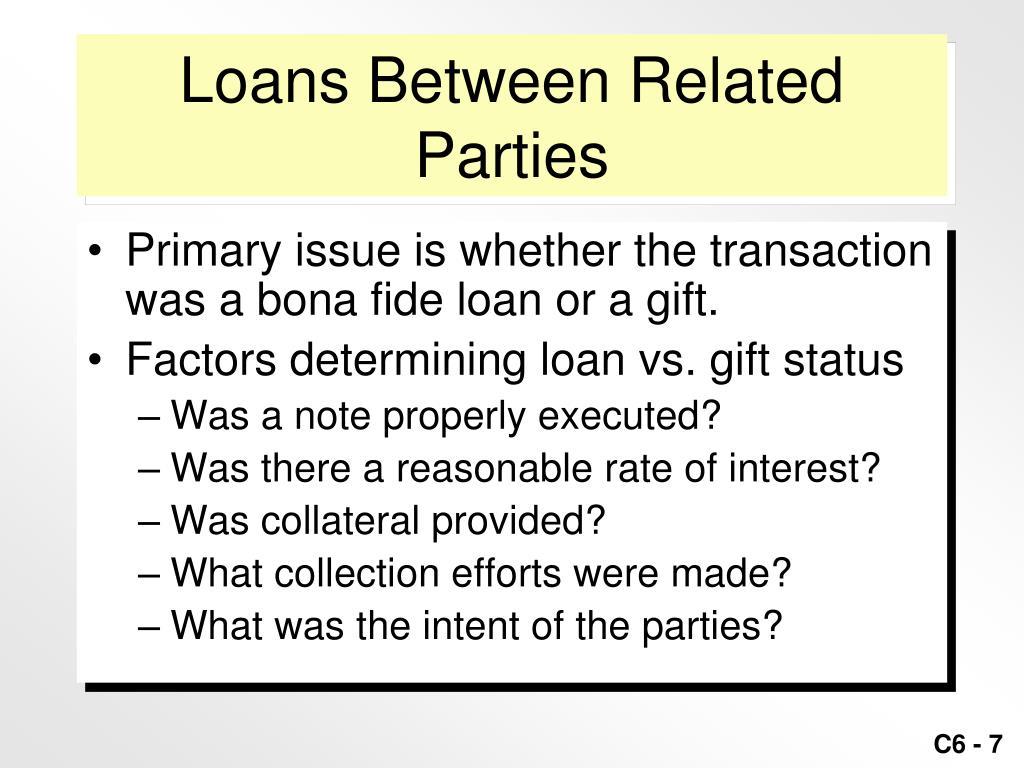 Loans Between Related Parties