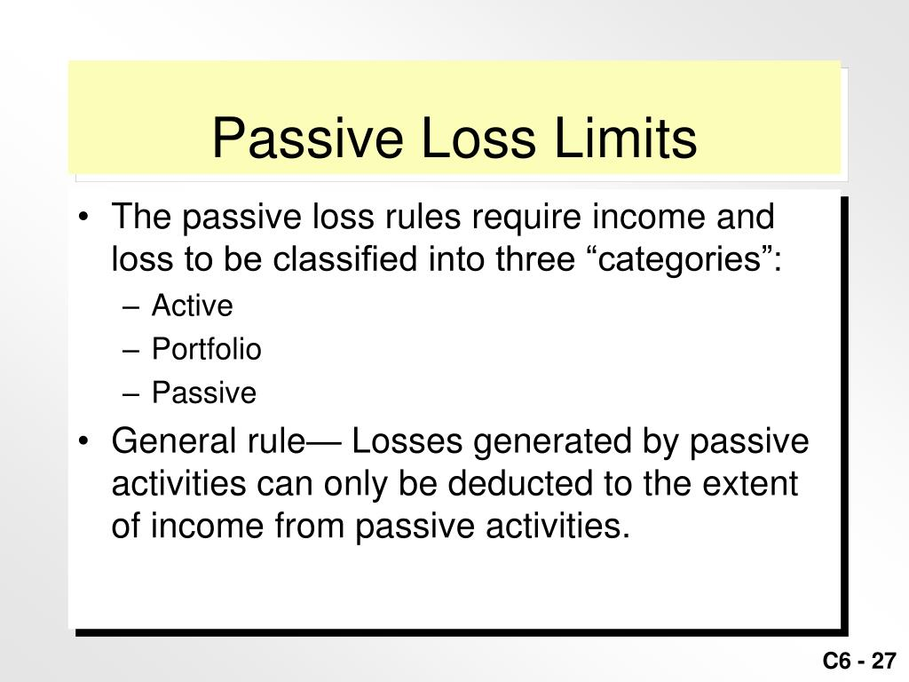 Passive Loss Limits