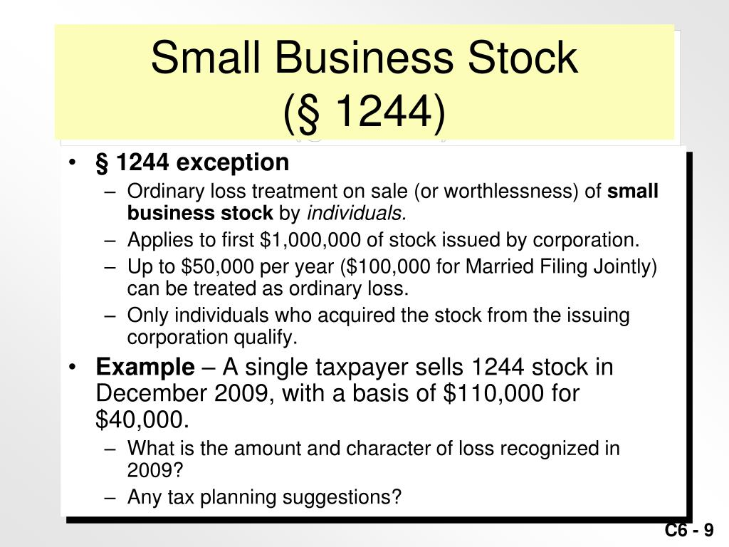 Small Business Stock