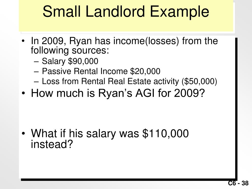 Small Landlord Example