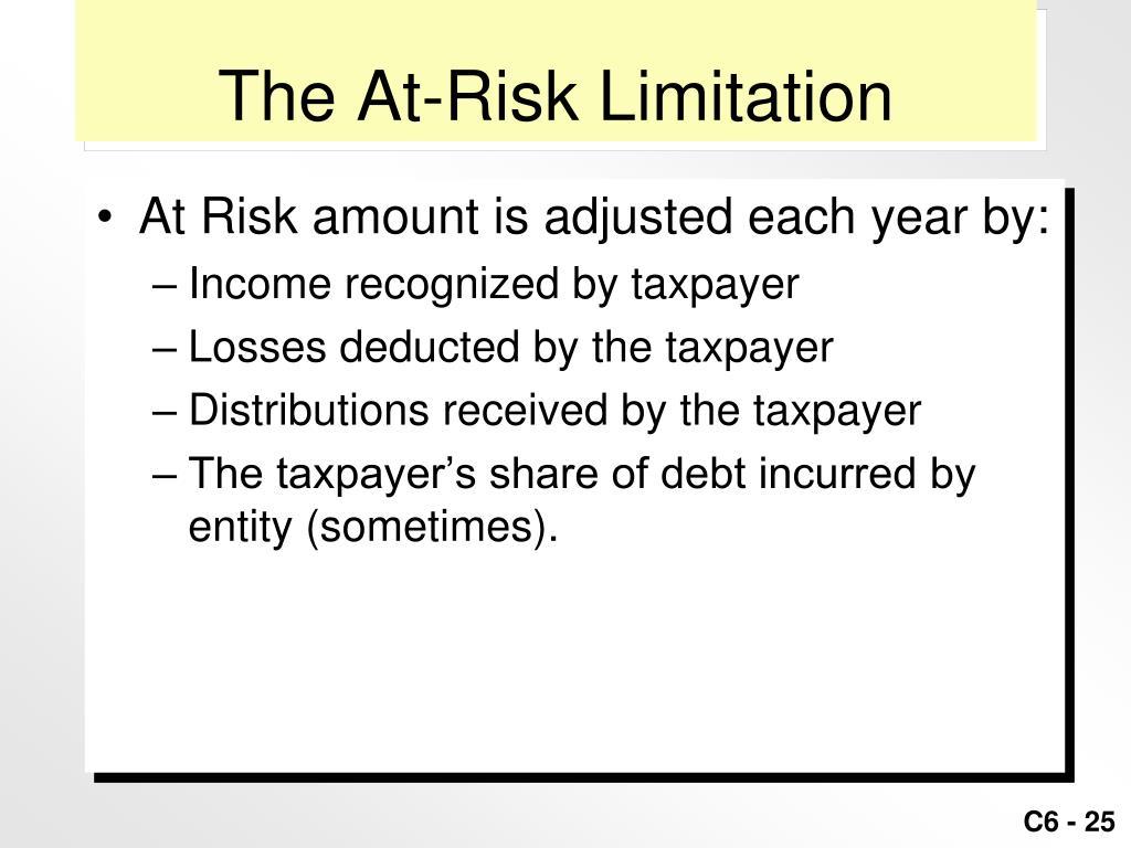The At-Risk Limitation