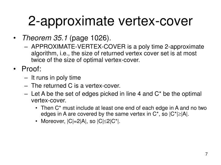 2-approximate vertex-cover