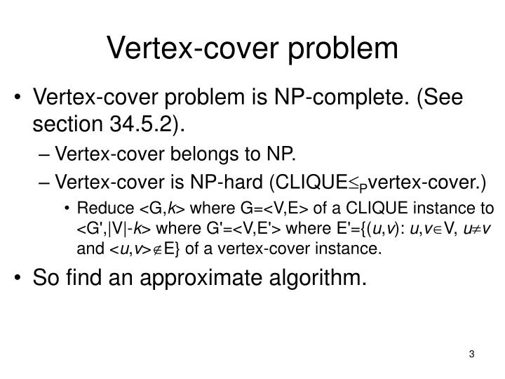 Vertex-cover problem