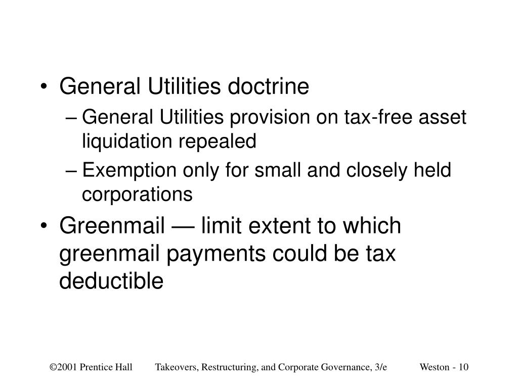 General Utilities doctrine