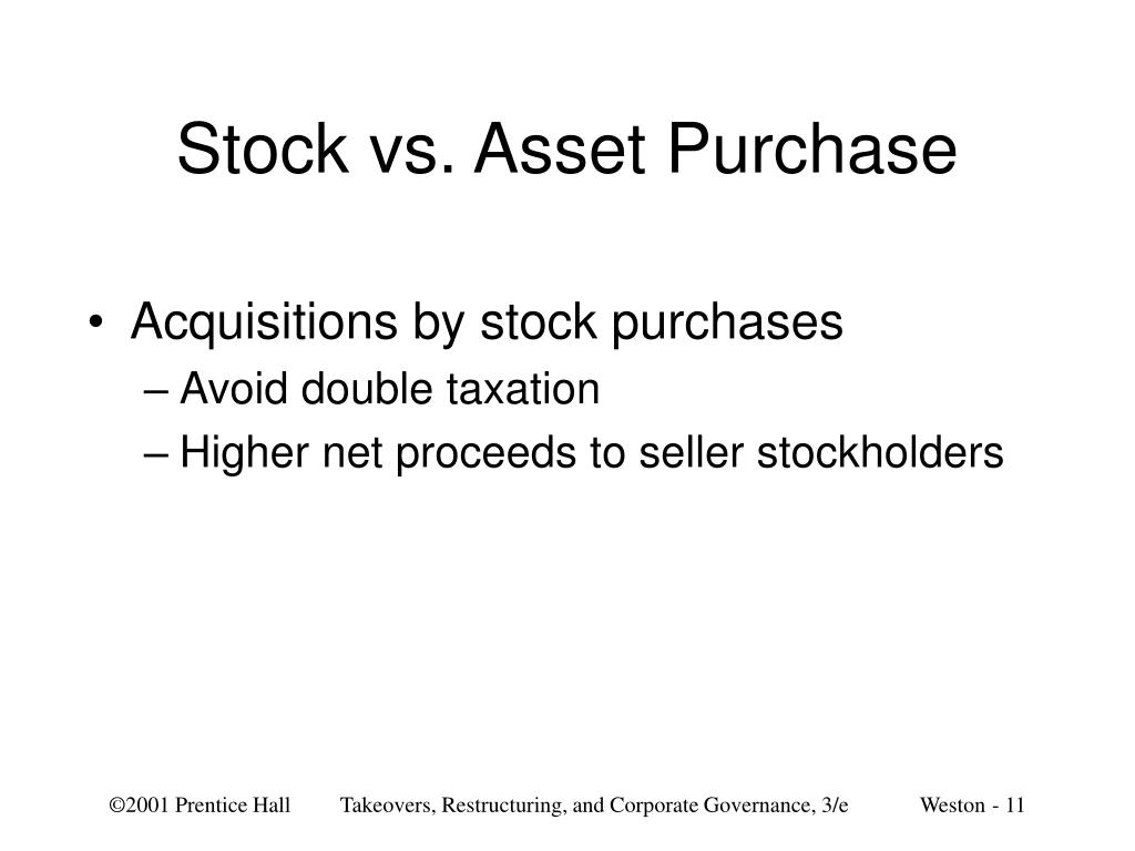 Stock vs. Asset Purchase