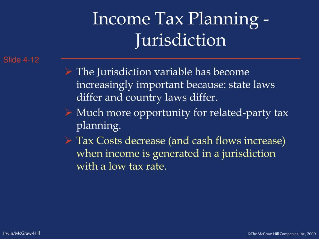 Income Tax Planning - Jurisdiction