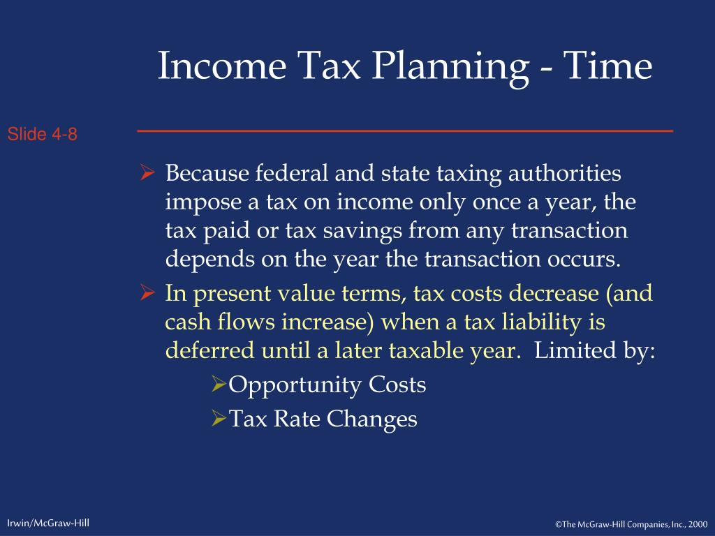 Income Tax Planning - Time