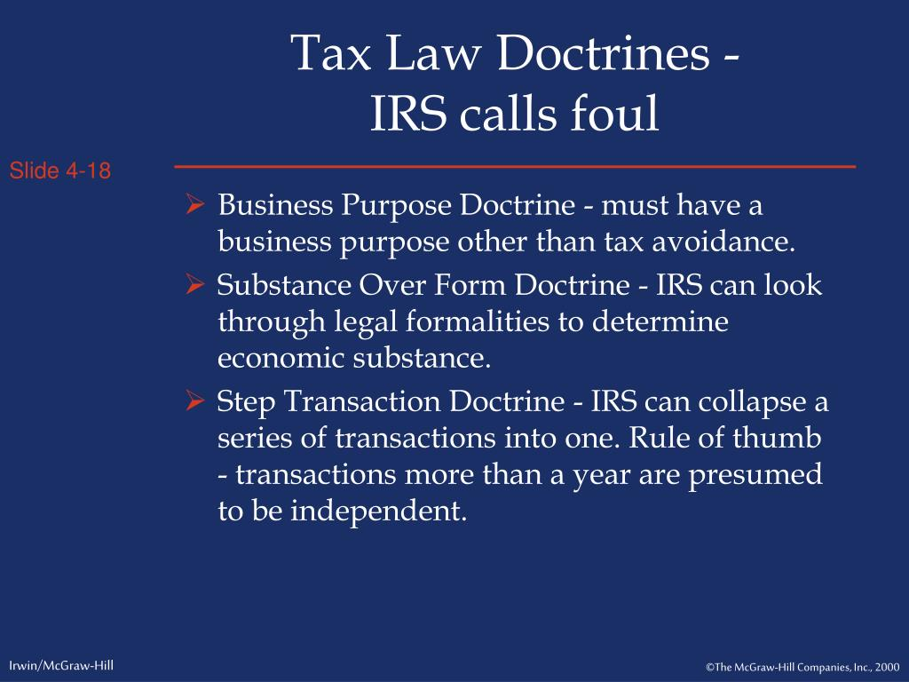 Tax Law Doctrines -