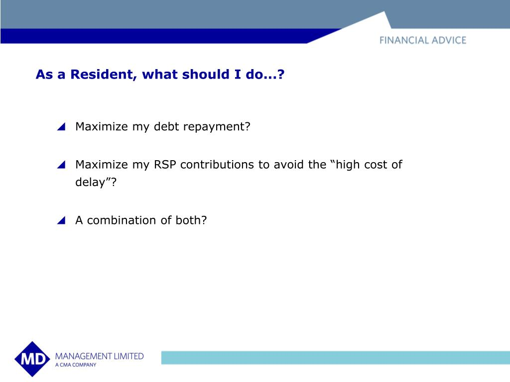 As a Resident, what should I do...?