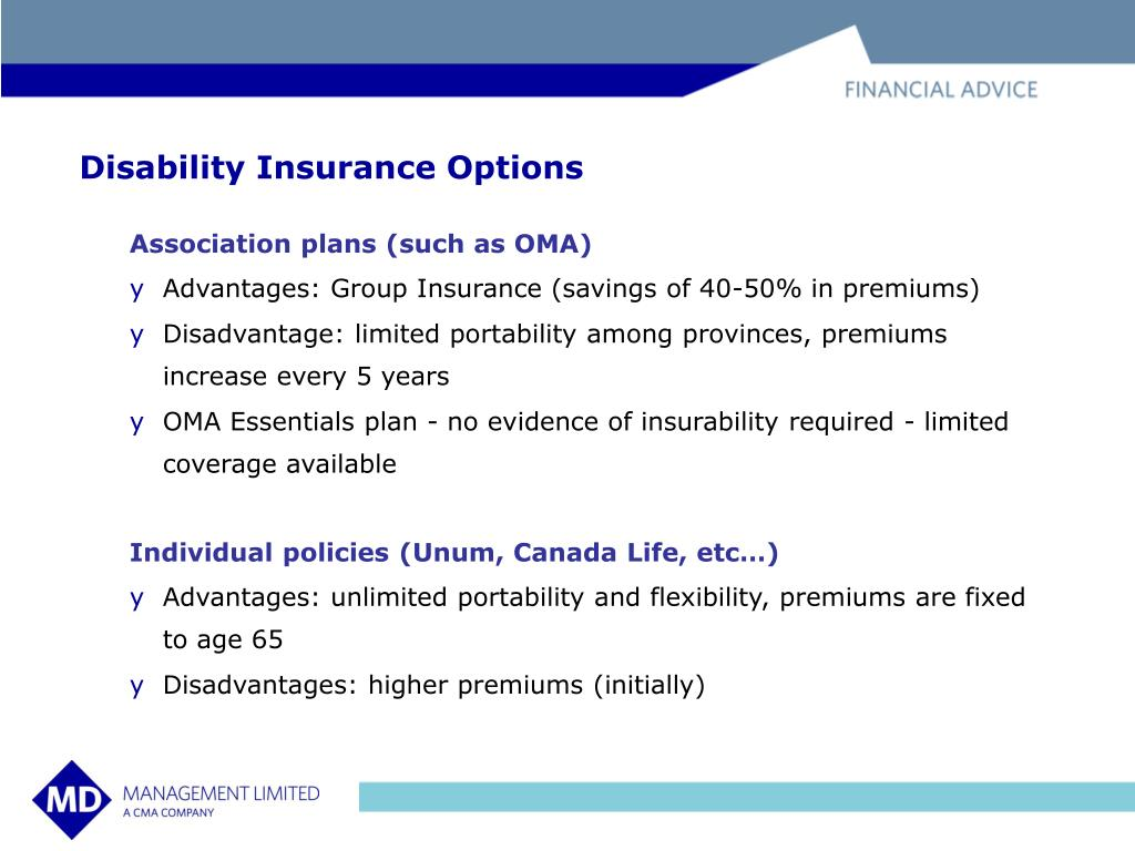 Disability Insurance Options
