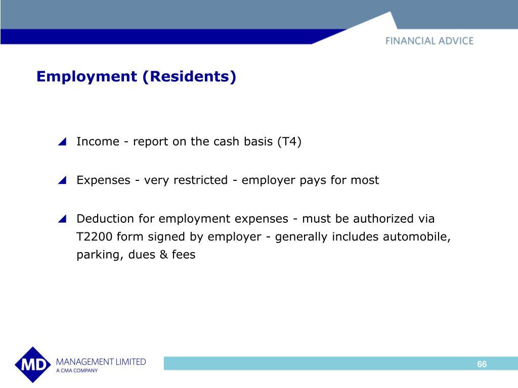 Employment (Residents)