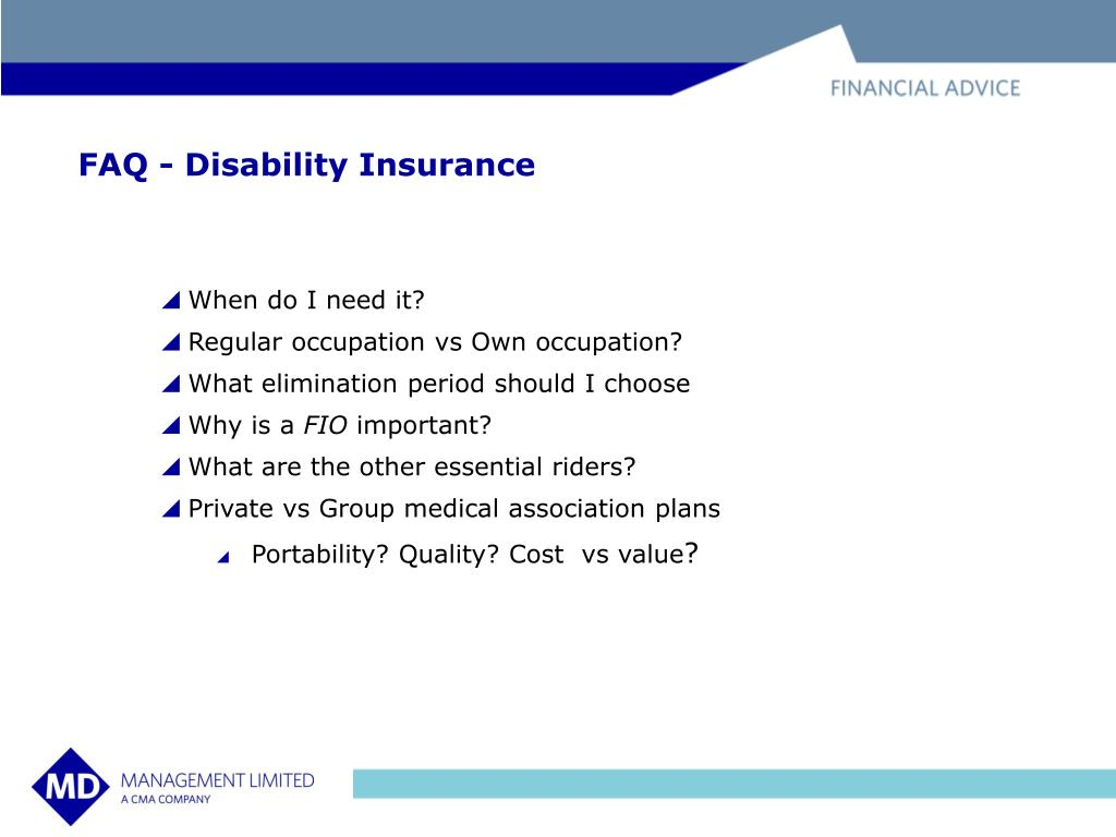 FAQ - Disability Insurance