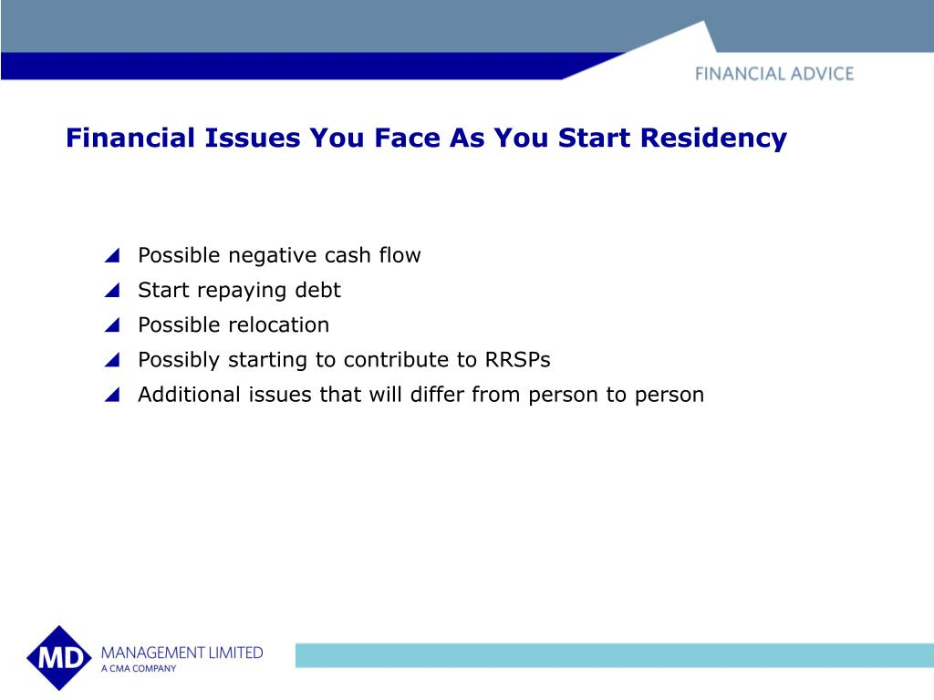 Financial Issues You Face As You Start Residency