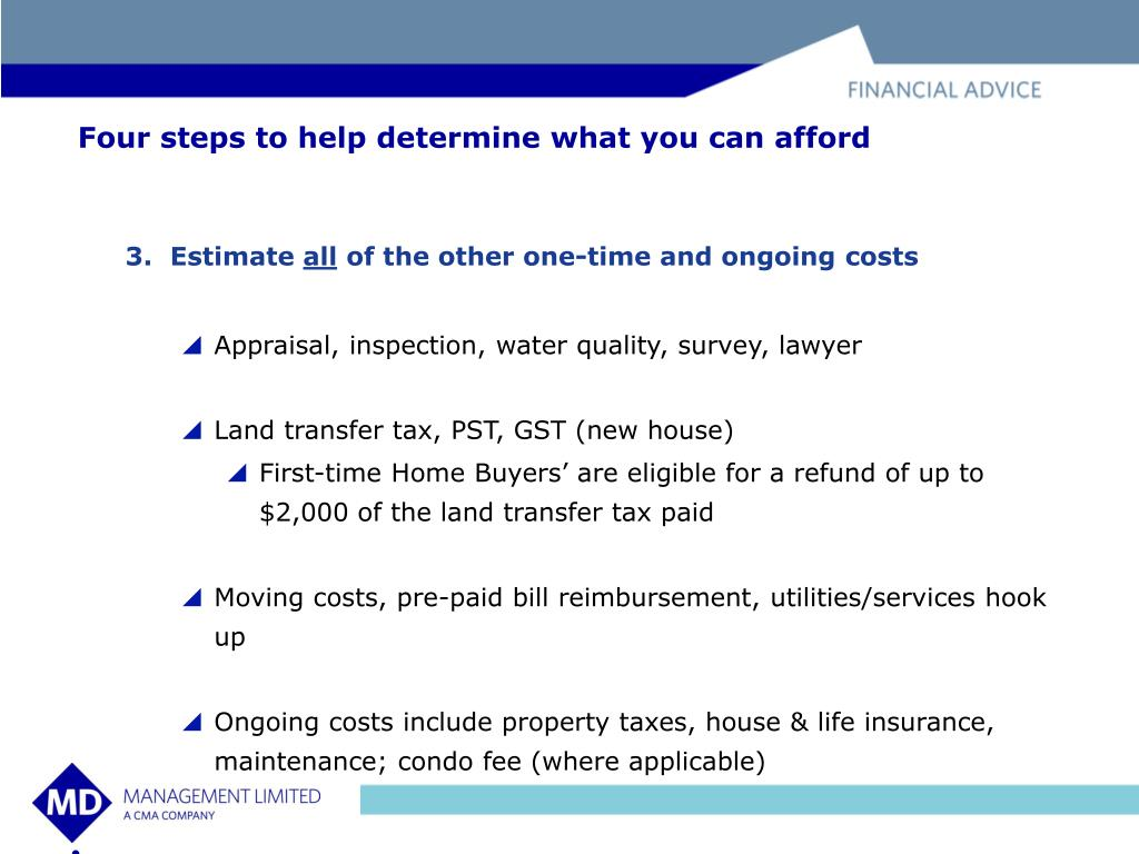 Four steps to help determine what you can afford