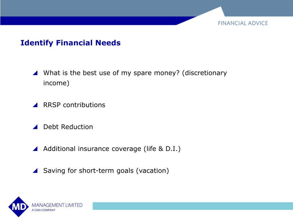 Identify Financial Needs