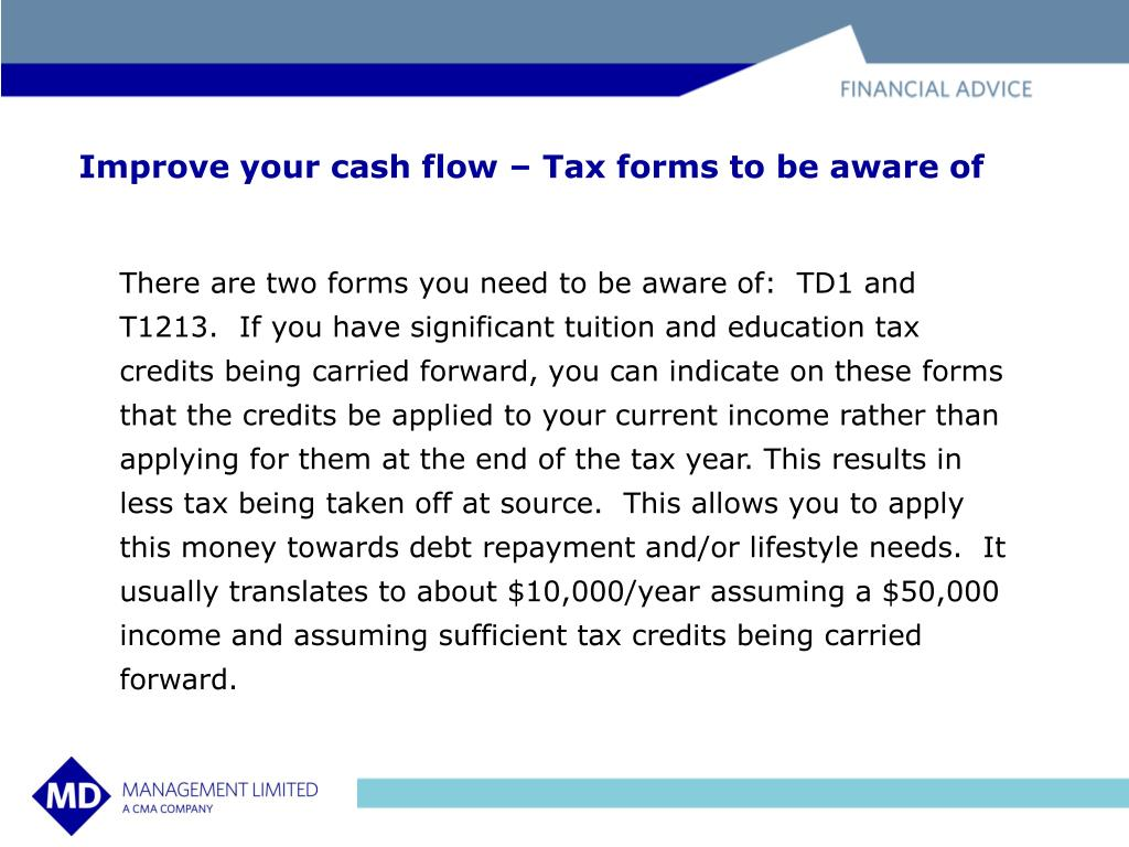 Improve your cash flow – Tax forms to be aware of