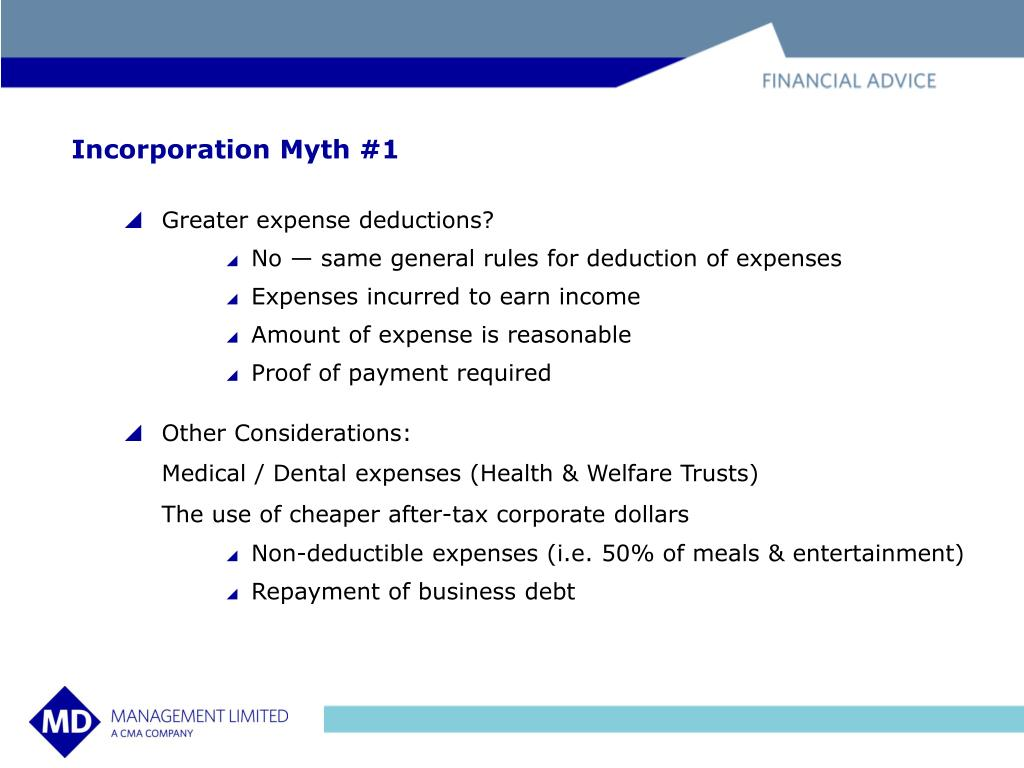 Incorporation Myth #1