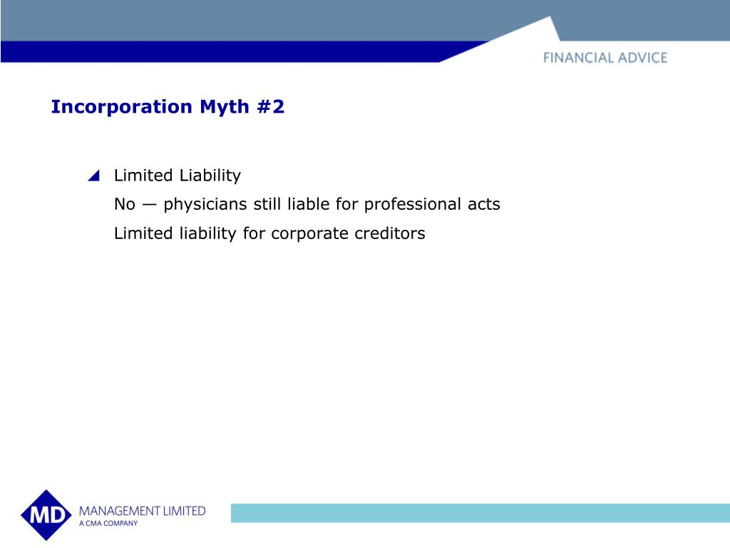Incorporation Myth #2