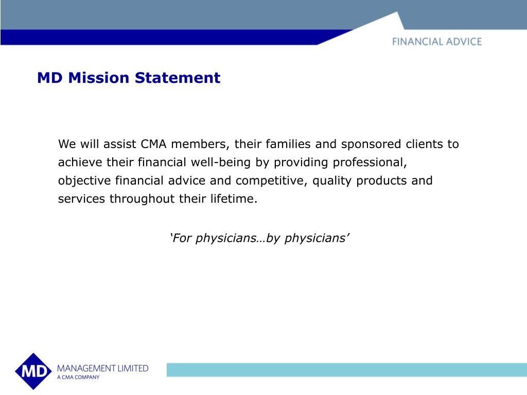 MD Mission Statement
