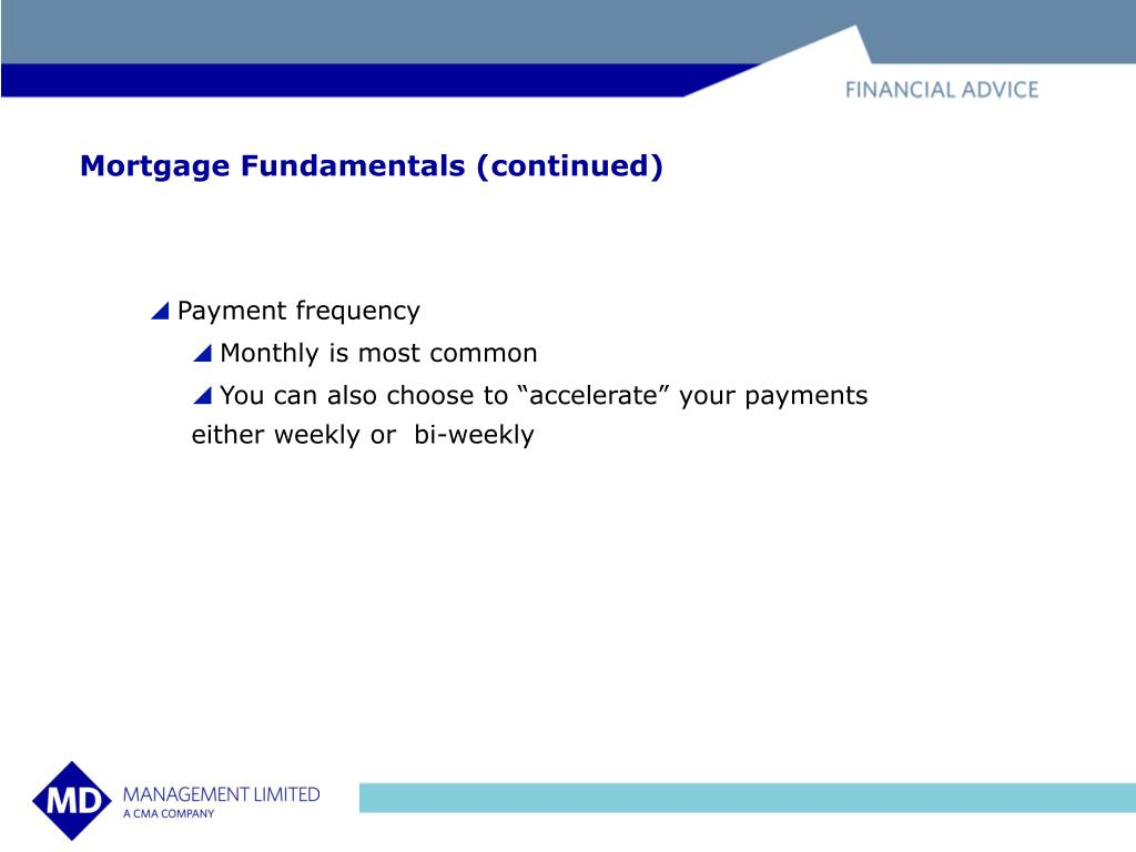 Mortgage Fundamentals (continued)