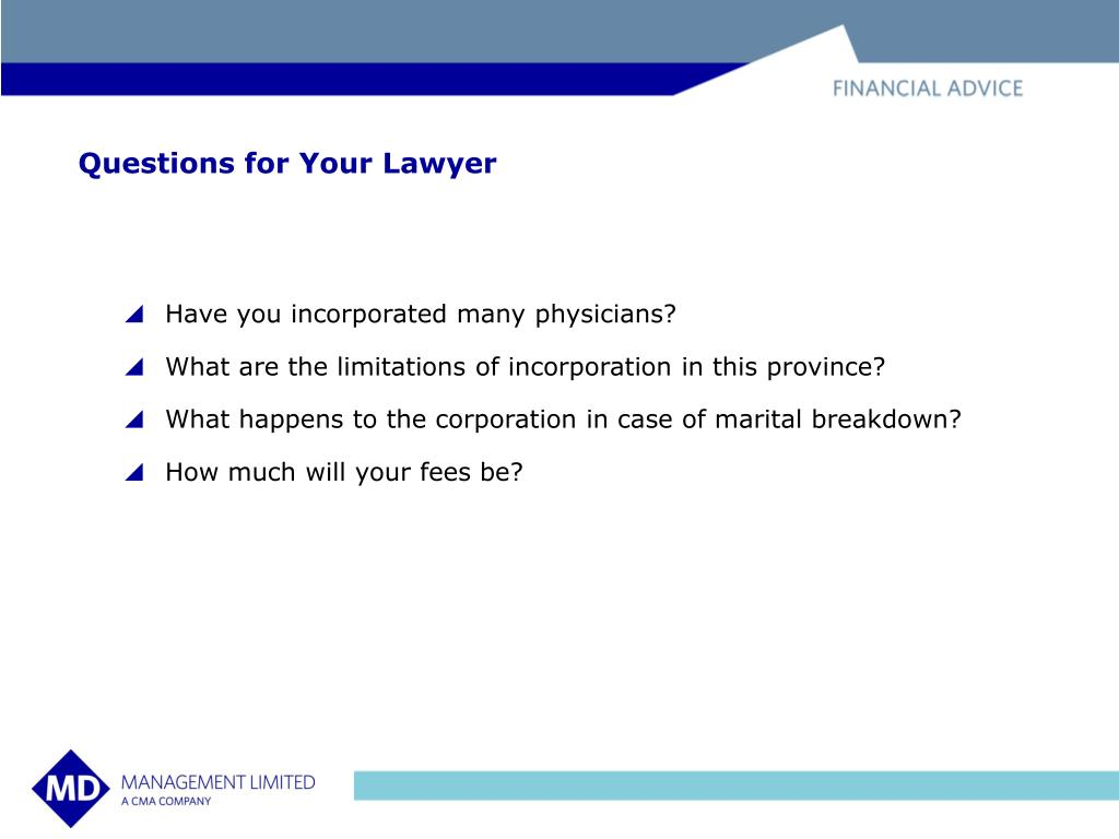 Questions for Your Lawyer