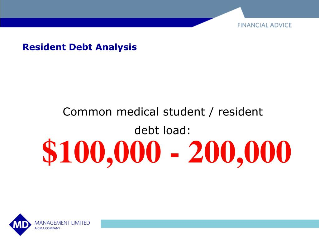 Resident Debt Analysis