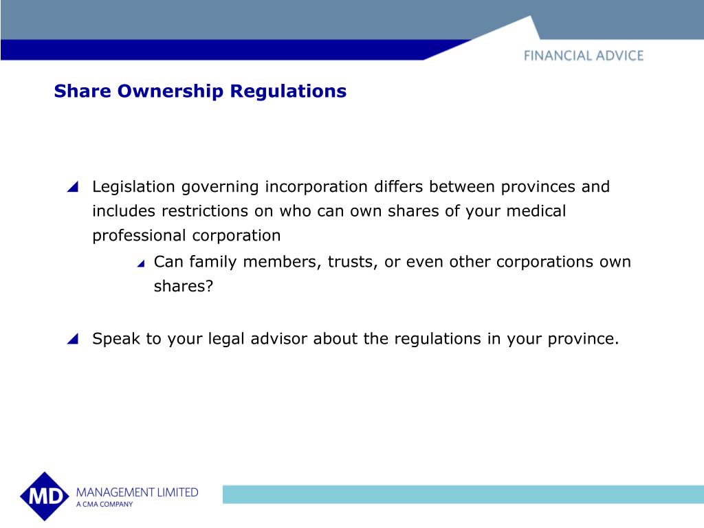 Share Ownership Regulations