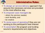 administrative roles