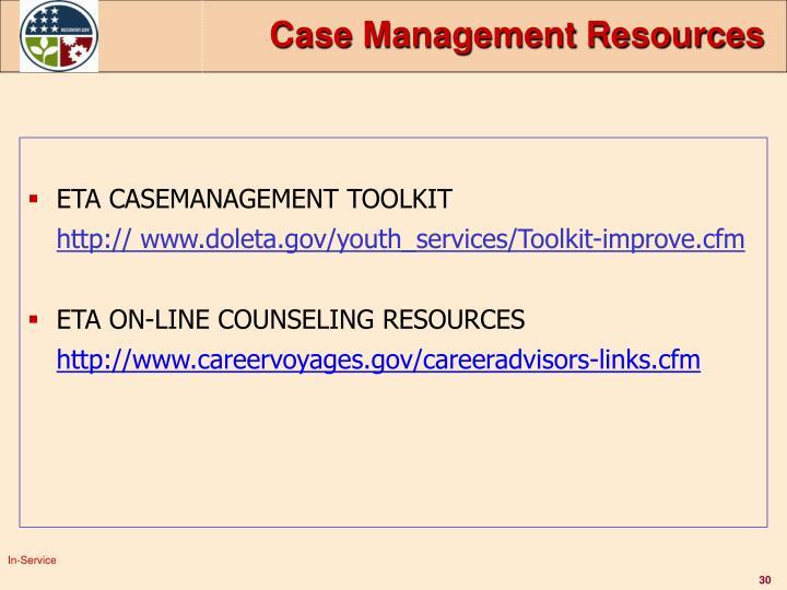 Case Management Resources