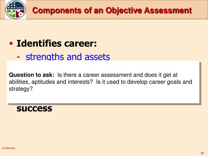 Components of an Objective Assessment