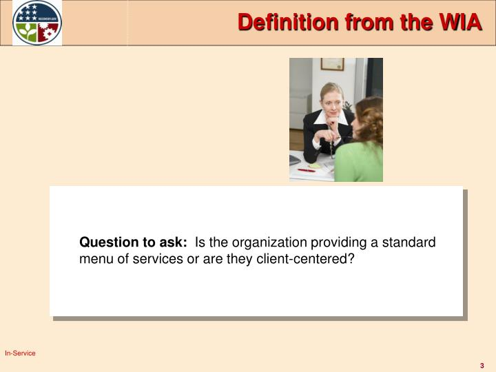 Definition from the WIA