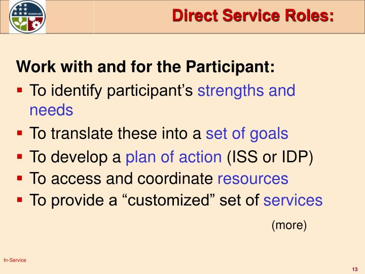 Direct Service Roles: