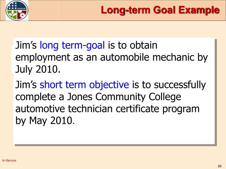 Long-term Goal Example