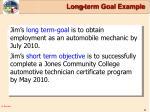 long term goal example