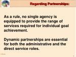 regarding partnerships