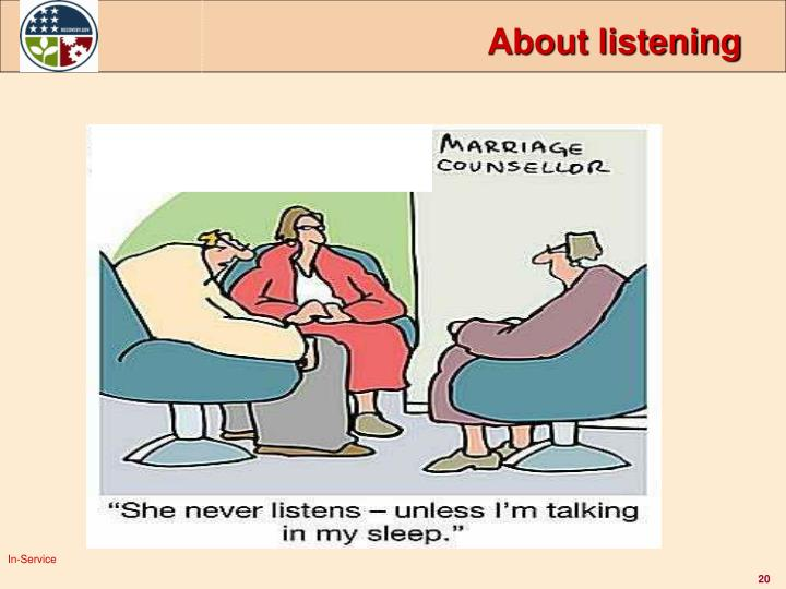 About listening