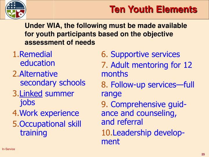 Ten Youth Elements